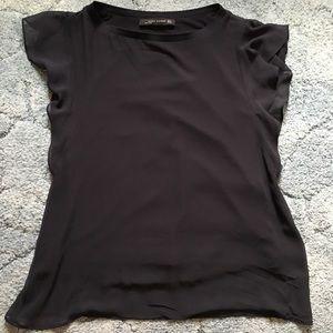 NWOT Zara Ruffle Sleeve Top